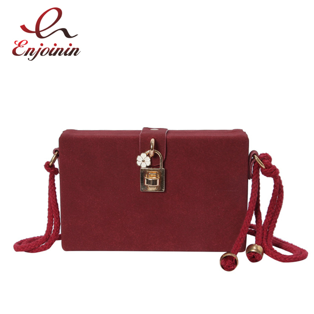Simple Stylish Matte Box Style Hemp Rope Ladies Casual Clutch Bag Crossbody Mini  Messenger Bag For 1dde0bb9e4f7