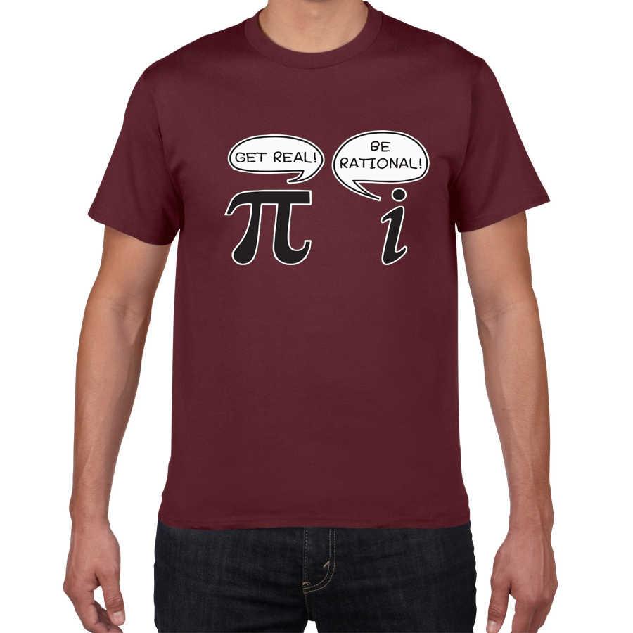 Ol rasyonel! Olsun gerçek! -Geek Nerd Pi erkek tişört komik t shirt erkek yenilik gevşek streetwear pamuklu bluz tee erkek giyim 2019