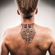 Waterproof Temporary Tatoo Fake Tattoo Sticker Owl Tribal totem Tatouage Flash Tatto Large Size Arm Leg Tattoos Stickers For Men(China)