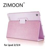 Zimoon For Apple Ipad 2 3 4 Magnetic Auto Wake Up Sleep Flip Litchi Leather Case