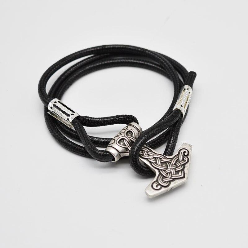 1pcs Thor Hammer Mjolnir Bracelet Viking Amulet Bracelet Leather Wrap Bracelet For Men Women BT11