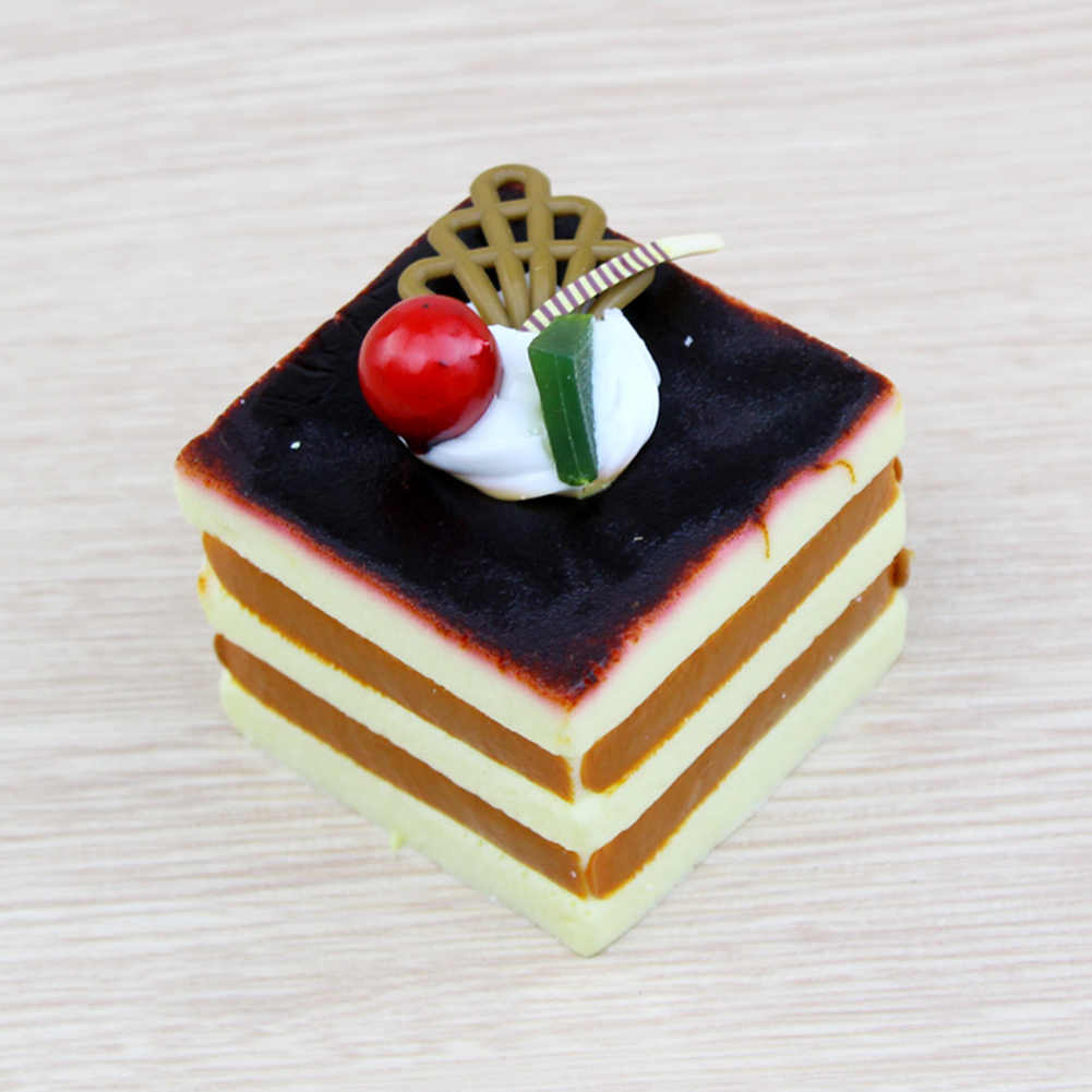 Artificial Simulation Square Cake Fake Food Model Dessert Photography Props