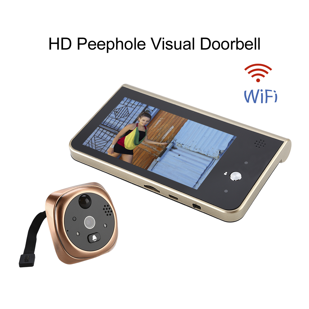Video Eyes Wireless Door bell HD720P Smart Video Doorbell Camera PIR Motion Detection Ring Doorbell Call