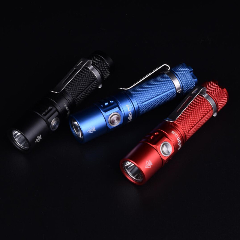 Sofirn New SP10S  Mini LED Flashlight AA 14500 Pocket Light LH351D 800lm 90 CRI Keychain Light Tactical  Waterproof Torch OPR