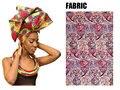 Multi-cor de Impressão Africano Ancara Cabeça envoltório Cachecol Gravata e colar Acessórios Para o Cabelo Headwear Gele Ipele Africano Bazin Rico WYB20