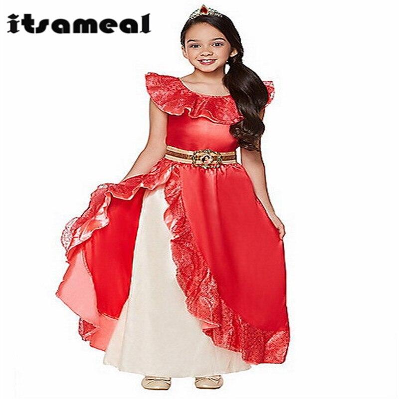 Girl Summer Dress Elena of Avalor Princess Costume Children Girl Elena Dress Cosplay Kids Ruffles Party Dancing Dress