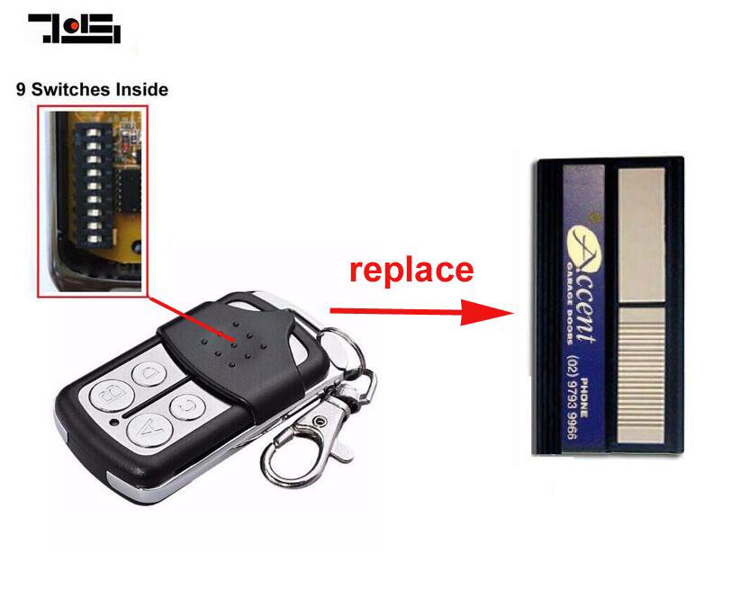 Accent Garage Doors Black DUAL ACCESS REMOTE CONTROL Keyring size replacement 9 switch glowshift 03 08 dodge ram cummins full size dual pillar pod complete replacement