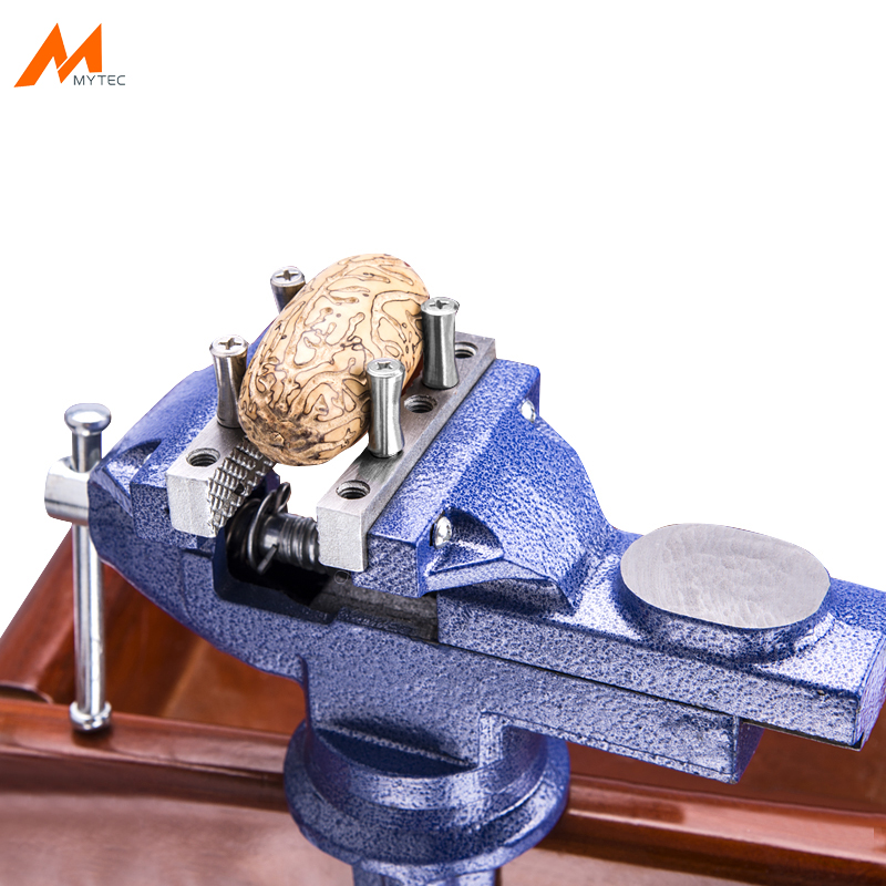 3 Multi functional Clamp on Bench Vise 360 Degree Swivel Cast Iron Tabletop Vice with Anvil and Large Table Clamp 100mm