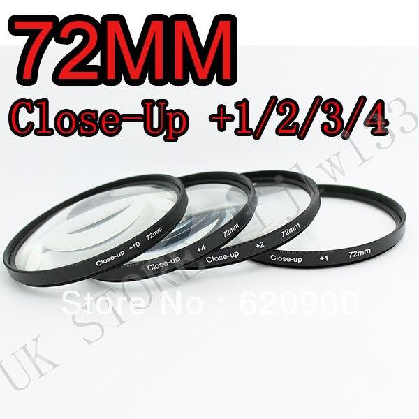 100% GARANTIE 72mm + 1 + 2 + 4 + 10 Close Up LENS Filter kit MACRO Close-Up pour canon 1000D 650D 550D 600D 500D 450D 350D 300D