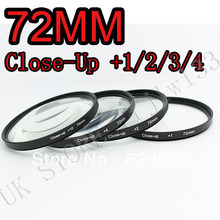 100% GUARANTEE  72mm +1+2+4+10 Close Up LENS Filter kit MACRO Close-Up for canon 1000D 650D 550D 600D 500D 450D 350D 300D