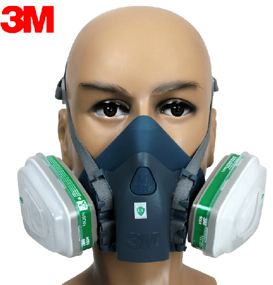 3M 7502+6004 Respirator Half Facepiece Reusable Respirator Mask Ammonia Methylamine Organic Vapor Cartridges Filters LT043 7502 of reusable respirator mask gas mask portable respirator protective fire masks