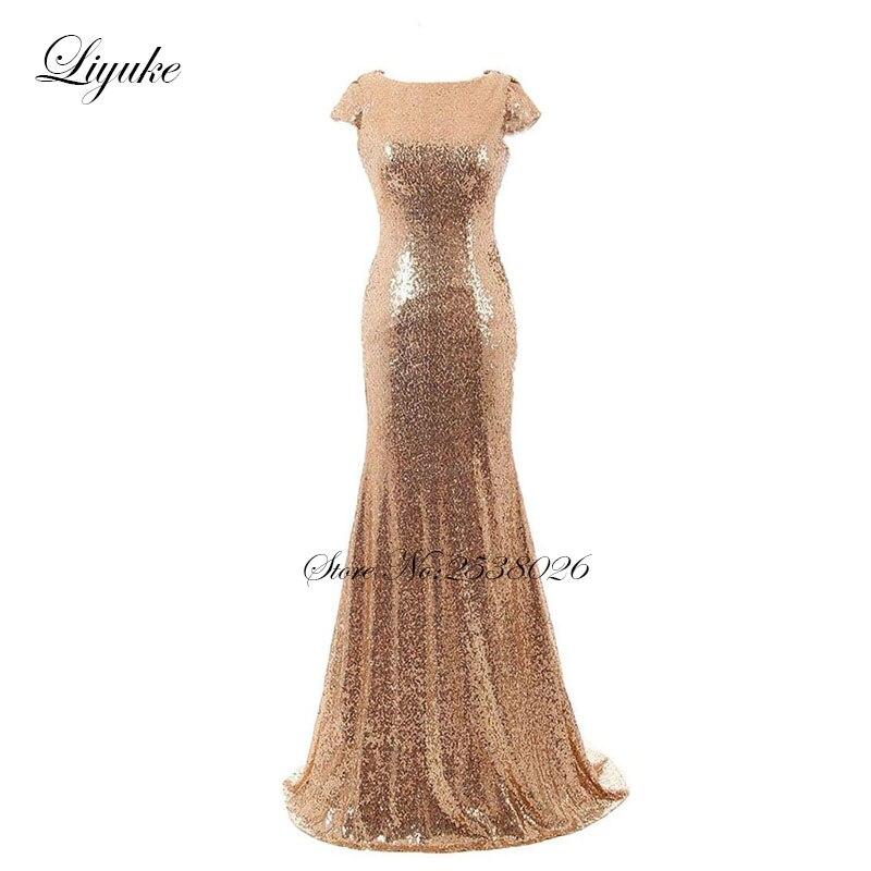 Liyuke मत्स्यस्त्री तल लंबाई - विशेष अवसरों के लिए ड्रेस