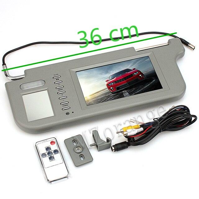 Osłona przeciwsłoneczna monitor samochodowy osłona przeciwsłoneczna wyświetlacz 1 sztuk 7 cal TFT LCD osłona przeciwsłoneczna do samochodu monitory wyświetlają lusterko wsteczne Retrovisor
