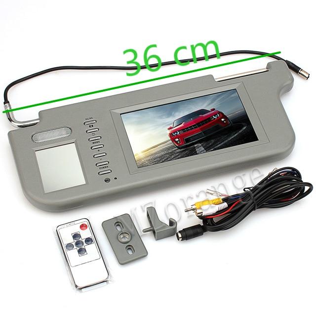 Sonnenblende auto-monitor sonnenblende display 1 stücke 7 zoll TFT LCD Auto Sonnenblende Monitore Display Rückspiegel retrovisor
