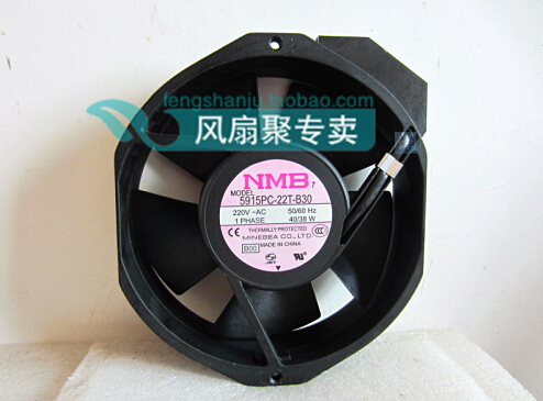 New original NMB 5915PC-22T-B30 220V 17CM17238 172*150*38MM converter cooling fan aluminum frame original s a n j u sj1738ha2 172 150 38mm 220vac 0 31a axial fan