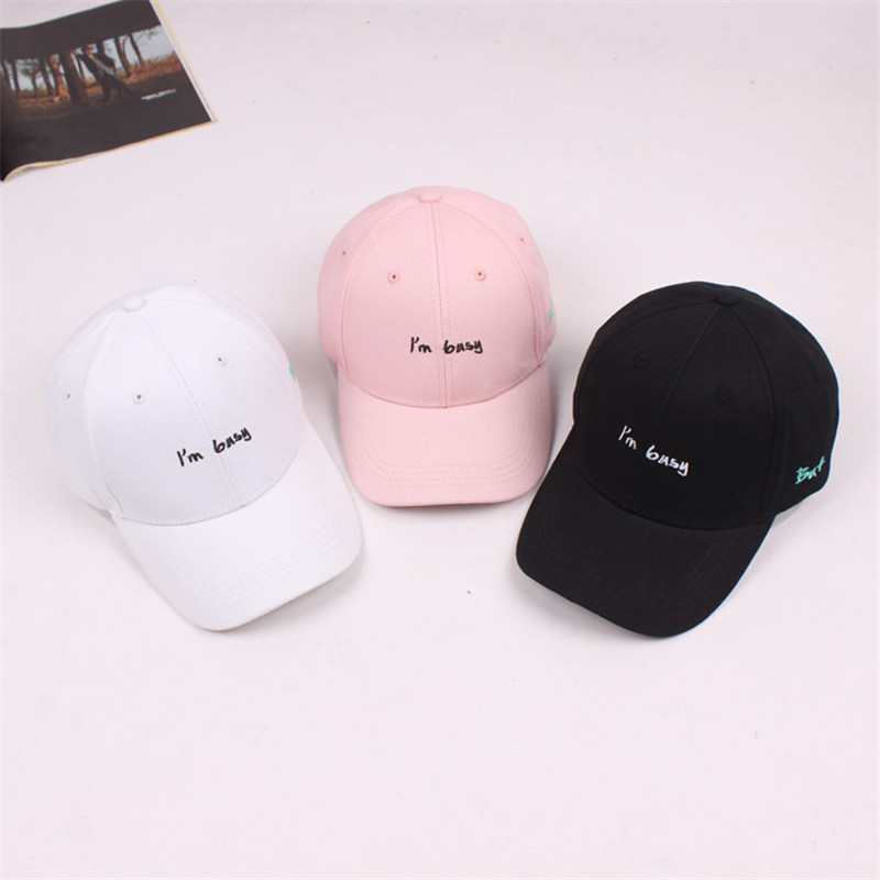 2018 Letter I'm Busy Adult Cotton Drake Bone Dad Hat k-pop   Baseball     Cap   Hip Hop Snapback Sun   Caps   For Men Women Casquette
