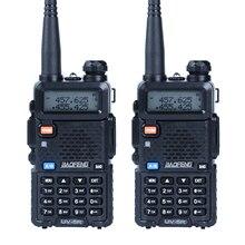 2 шт./лот Baofeng UV-5R Walkie Talkie радиолюбителей uhf & УКВ 136-174 мГц и 400-520 мГц 128 Dual Band двухстороннее радио 5 Вт КВ трансивер