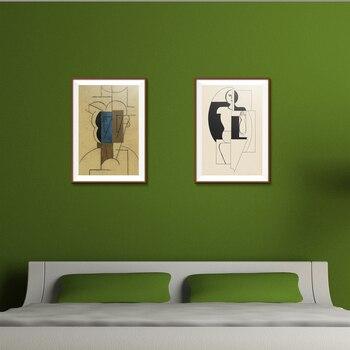 Picasso z kapelusz mężczyzna rysunek malarstwo streszczenie Home decor rysunek obraz olejny Spray na płótnie bezramowe projekt techniczne prezent
