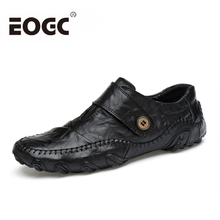 Moda estilo británico Hombres Zapatos casuales mocasines Zapatos de cuero genuino