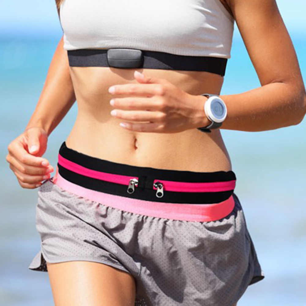 新ファッション Waistbag 屋外防水携帯電話ホルダージョギング腹袋女性ジムフィットネス女性バッグスポーツアクセサリー
