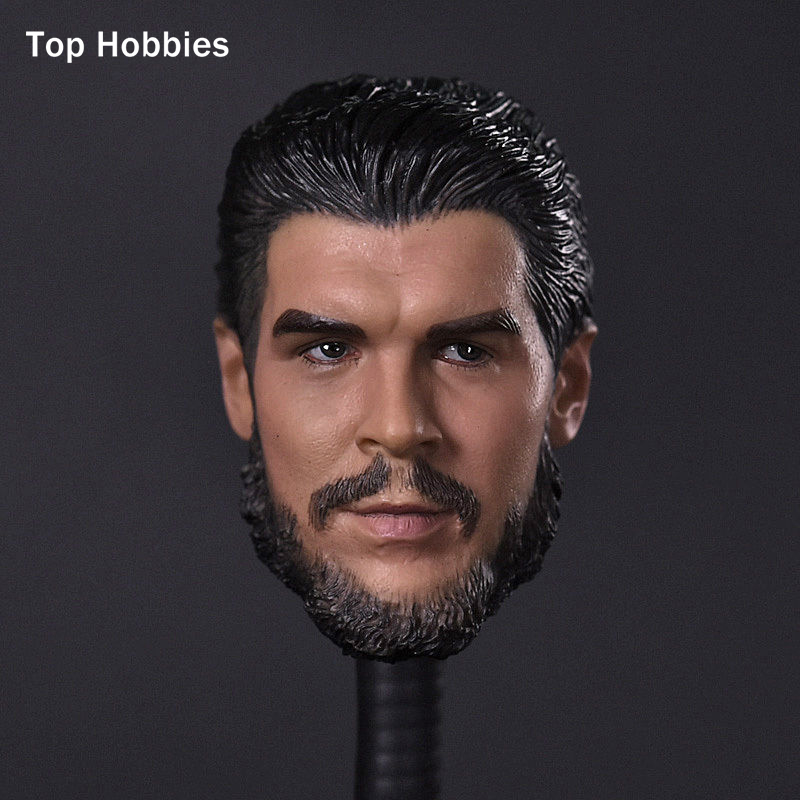 1/6 Scale Mens Head Sculpt Che Guevara Argentina Revolutionary Cuban Hero Carving Model Fit 12Phicen Action Figures Doll Toys цена