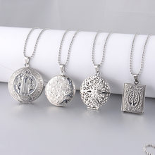 Stainless Steel Photo Locket Necklace Custom Necklace Add The special Pictures in the Locket Pendant Fashion Album Box Necklaces(China)