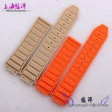 Relojes con caucho de silicona con convexa pulsera de la boca relojes accesorios 26 hombres x19mm