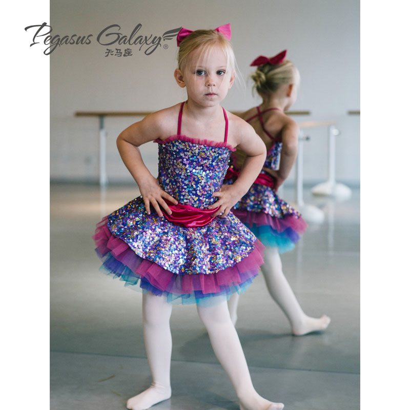 2018 Princess Ballet Dance Tutu Dress Girls Performance Dancing Dress Kids Tutu Dance Dress Ballet Leotard