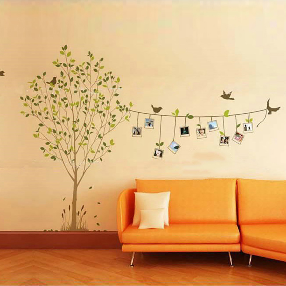 120 * 86cm 3D DIY Photo Tree Wall Stickers Removable Adhesive Vinyl ...