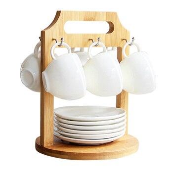 Europese stijl bone china kopje koffie set persoonlijkheid creatieve keramische thee set bloem kopje thee plank wx9081429