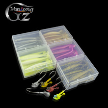 11pcs 65mm Soft artificial Bait fishing lures 5.5g lead jig hook shad fish silicone lure wobblers pesca carp fishing tackle set
