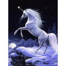 Oly 5D Diy Diamond painting Unicorn cross stitch Mosaic Rhinestones pictures Daimond Embroidery Sale home decor