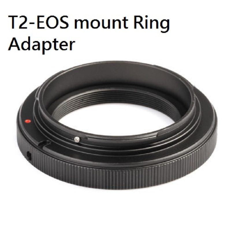 T2 T Mount to For Canon EOS T2 EOS Ring Adapter for Cannon 5D 7D 50D
