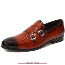 Felix Chu -  Business Dress Men Shoes 2019 New Classic Leather MenS Suits Fashion Heels Slip On Loafers