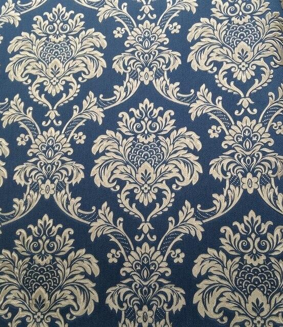 Klasik Bunga Ruang Tamu Wallpaper Murah Bunga Wallpaper 3d Stereoscopic Wallpaper Papel De Parede Bunga Biru