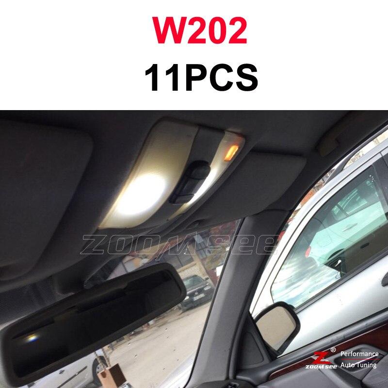 Идеальный белый светодиодный светильник Canbus для Mercedes Benz C class W202 W203 W204 S202 S203 S204 C203 C203 C204 C204(93-14 - Испускаемый цвет: W202 Sedan - 11PCS