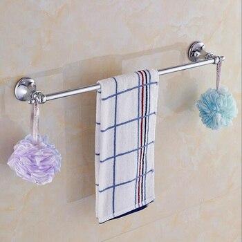 Toallero cromado de alta calidad montado en la pared de 24 pulgadas, toallero de acero inoxidable, toallero, accesorios de baño