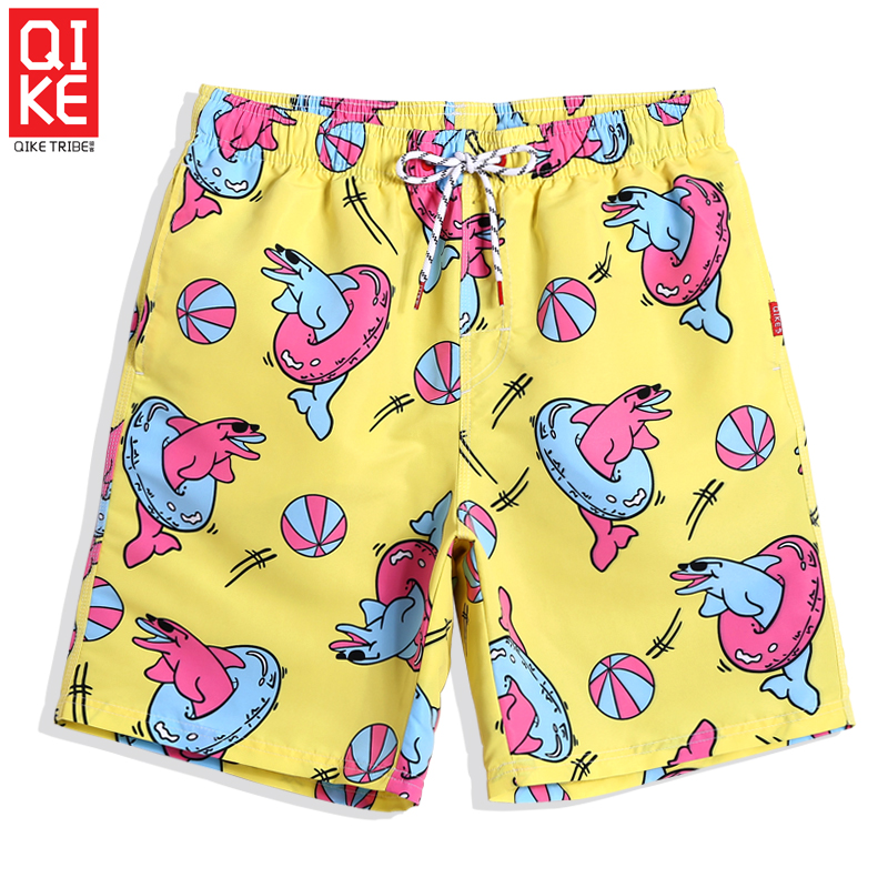 New Bathing suit for men quick dry beach shorts liner camouflage joggers briefs hawaiian bermudas printed board shorts