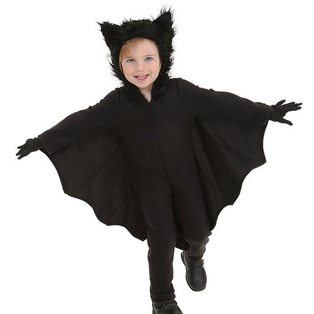 Boy Girl Black Evil Vampire Bat Costume Children Halloween Costumes Plays  Vampire Devil Costume sets girls halloween outfits New 3c8c654f4fb5