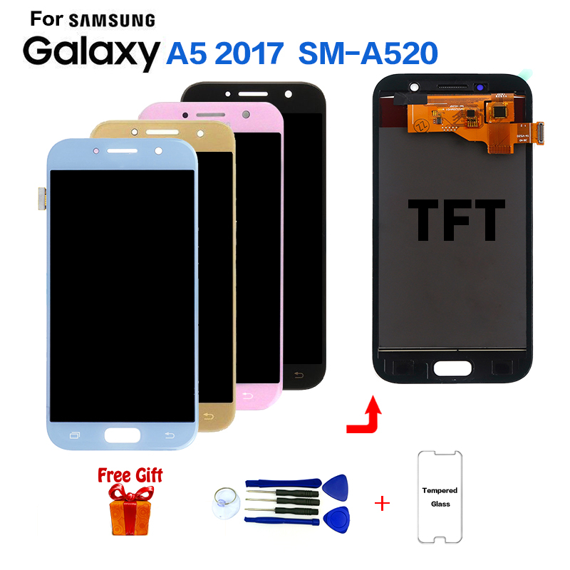 TFT For SAMSUNG Galaxy A5 2017 SM-A520F Display Lcd Screen Module For Samsung SM-A520K A520S A520L A520W Lcd Display Replacement
