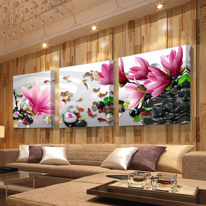 paneles moderna china wind magnolia flores pintura al leo sobre lienzo cuadros de arte de