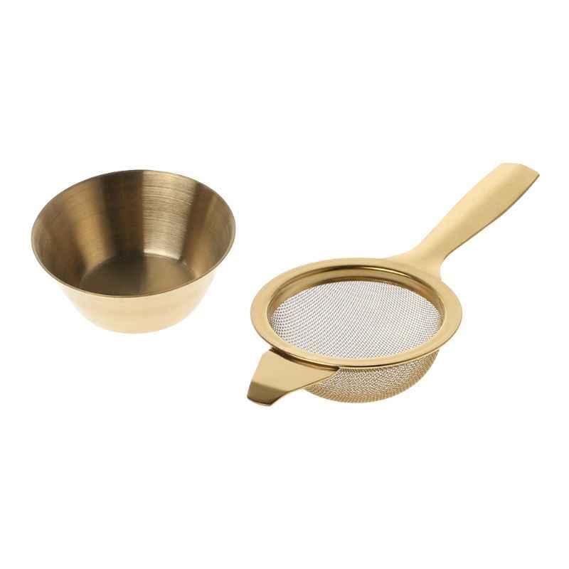 Infusor de t/é de hoja suelta de silicona filtro de t/é de malla fina mango de silicona colador de acero inoxidable para hojas sueltas t/é de hierbas loto amarillo