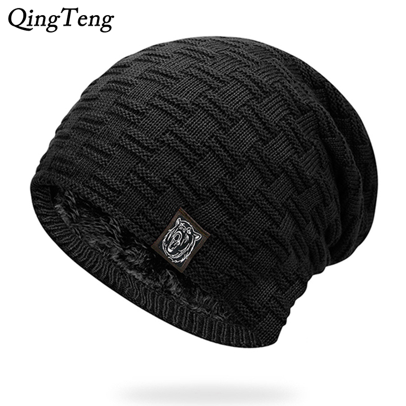 Mens Winter Hat Casual Brand Knitted Ladies Hats   Beanies   Stocking Hat Plus Velvet Rasta Cap Skull Bonnet Hats For Men