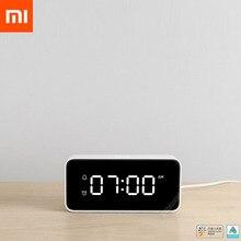 Oryginalny Xiaomi Xiaoai inteligentny budzik zegar transmisji głosu ABS tabela Dersktop zegary automatyczna kalibracja Mi Home App