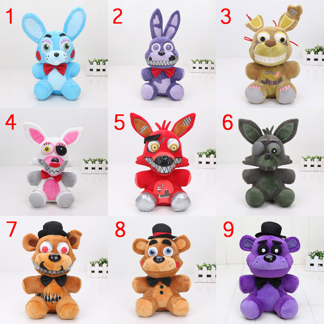 45pcs 25cm fnaf five nights at freddy s funtime nightmare springtrap