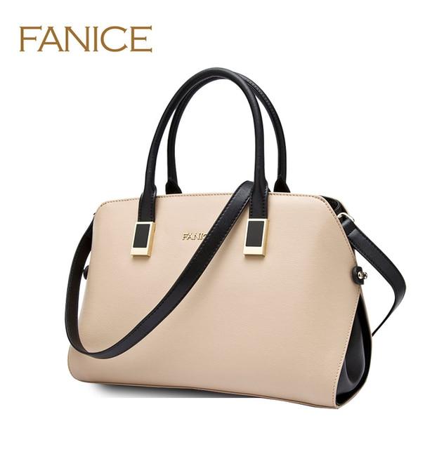 Italian Fashion Designer Fanice Famous Brand Handbags Female Bag Women Genuine Leather 2017 Trends