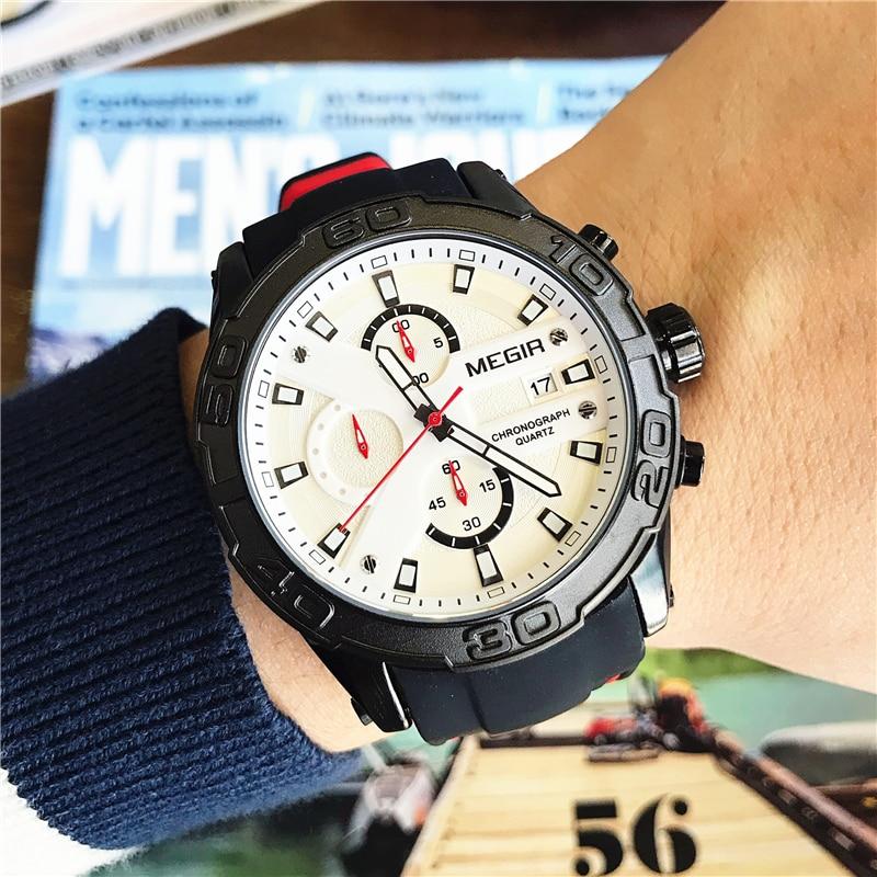 MEGIR Hombres Relojes Reloj de pulsera de Cuarzo Analógico - Relojes para hombres - foto 4