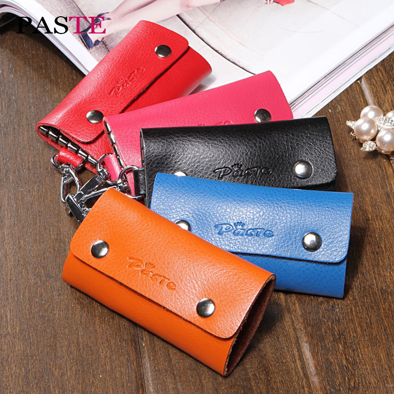genuíno homem bolsa organizador chaveiro Estilo 2 : Genuine Leather Key Wallets