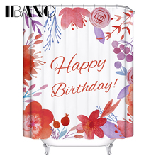 180x180CM Flowers Shower Curtain Waterproof Polyester Fabric Wedding Curtain For The Bathroom Decor With 12 Hooks mermaid sequins waterproof polyester shower curtain with hooks