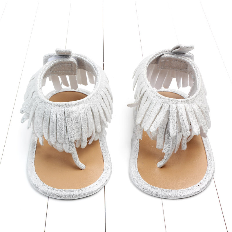 Baby comfortable sandals 2018 summer new boy girls beach shoes kids casual sandals children fashion Baby Girl Tassel Sandals (18)